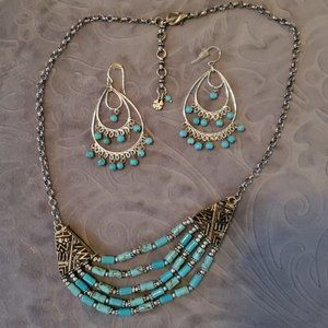 Lucky Brand Necklace Earring Bundle